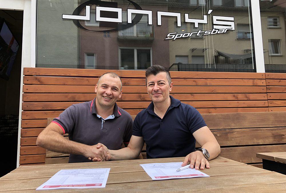 Jonny's Sportsbar ist neuer Hauptsponsor